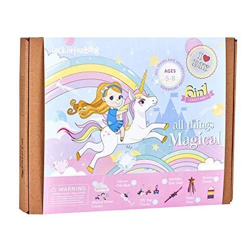 jackinthebox Unicorn Gifts for Girls   6-in-1 Premium Craft Kit   Arts and...