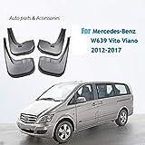 HCDSWSN Guardabarros para coche Para Mercedes-Benz W639 Vito Viano 2012-2017 Protectores contra salpicaduras Aletas de barro Aletas de barro