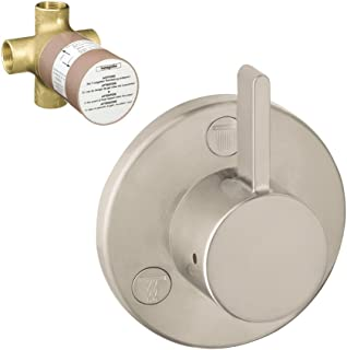 Hansgrohe K04232-15930BN-2 S Trio/Quattro Trim with 3-Way Diverter Rough-In, Brushed Nickel,