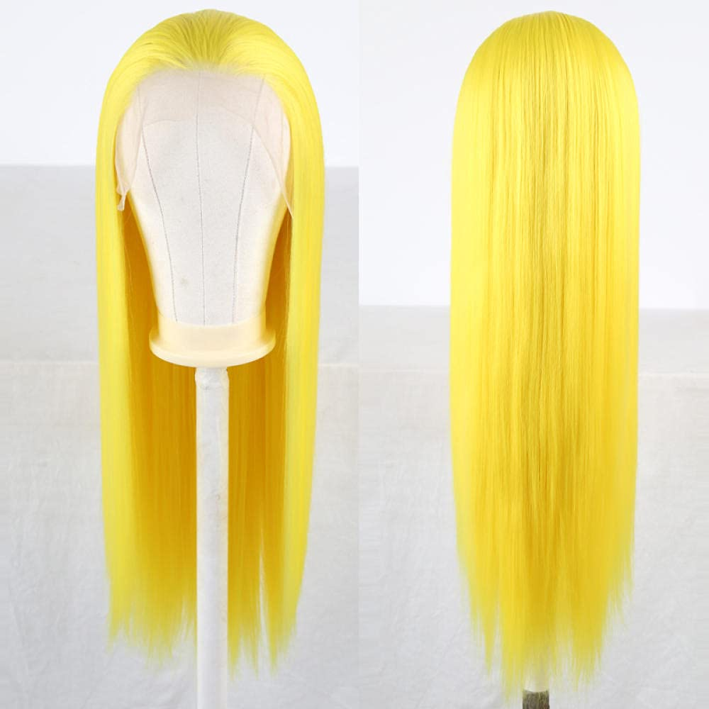 Superior Long Straight Hair Synethic Lace Front Safety and trust Deep 13X6 Wig Part W