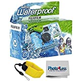 Fujifilm Quick Snap Waterproof 35mm Single Use Camera | Floating Foam Strap (Yellow)