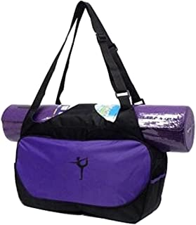 Black Temptation Multifunción Yoga Mat Bolsa de Tela: Ligero, Duradero, Transpirable Bolsa [púrpura]