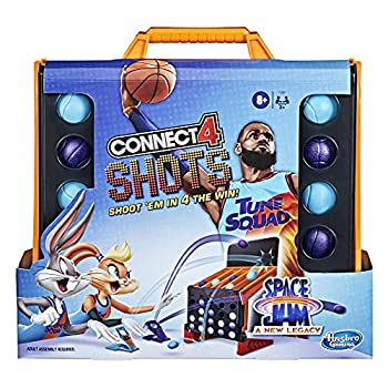 Hasbro Gaming Connect 4 Shots  Space Jam A New Legacy Edition Game Inspired by The Movie with Lebron James Fast-Action Game for Kids Ages 8 and Up