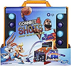 Hasbro Gaming Connect 4 Shots: Space Jam A New Legacy Edition Game, Inspired by The Movie with Lebron James, Fast-Action Game for Kids Ages 8 and Up