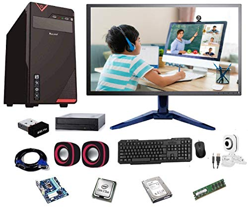 Rolltop® Assembled Desktop Computer,Intel Core 2 Duo 3.0 GHZ Processor,G 41 Motherboard, 17″ LED Monitor,4GB RAM, DVD,Windows 7 & Office Trial Version with Web Camera Mic Speaker 500 GB