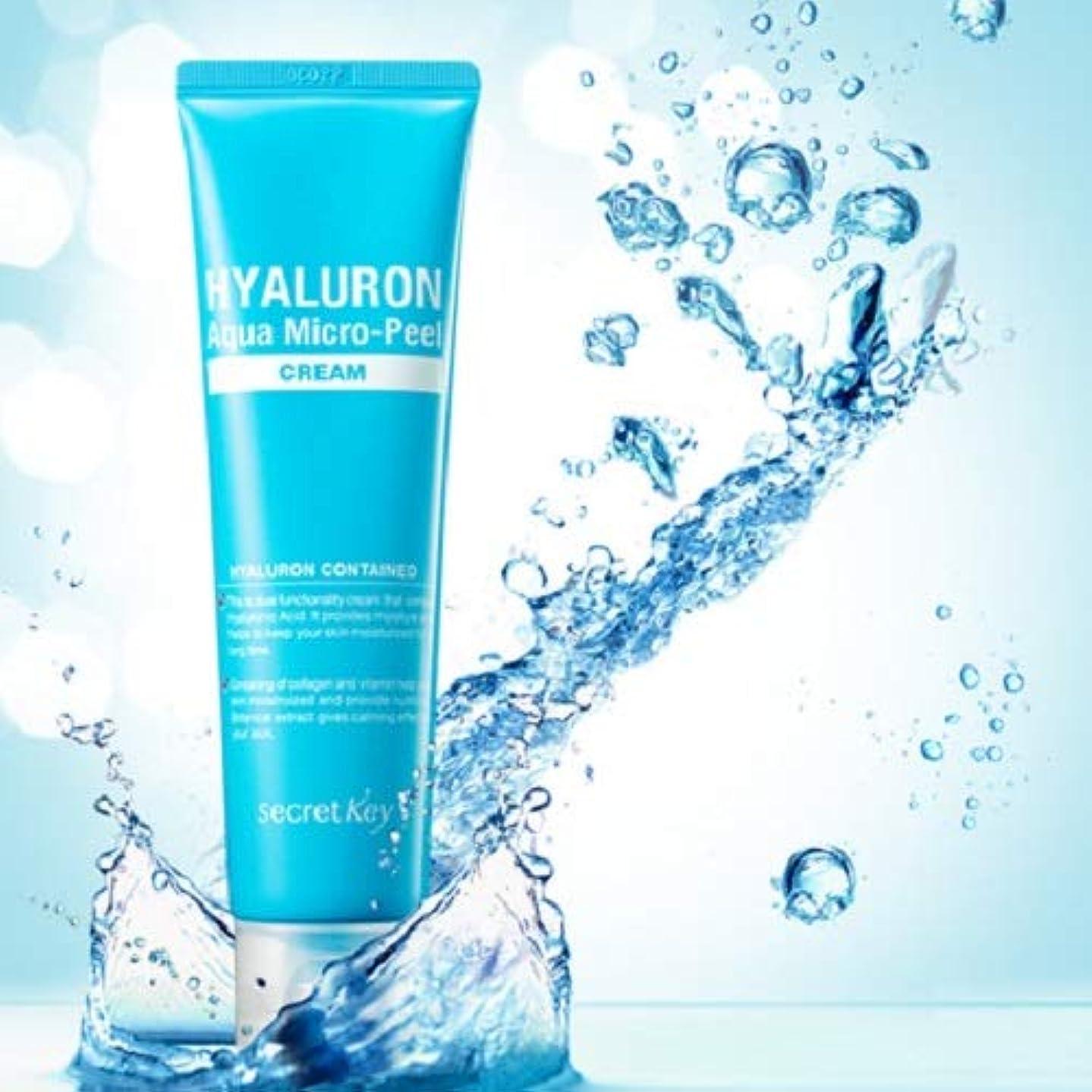 騒ぎ豆獣Secret Key Hyaluron Aqua Micro Peel Cream 70g/Deep Moisturizing Cream/Korea cosmetics [並行輸入品]
