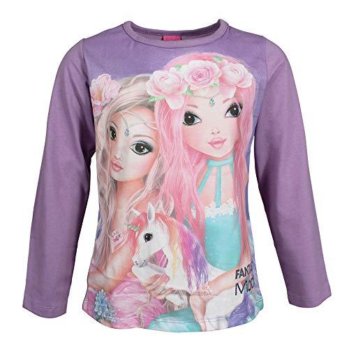 Top Model Mädchen T-Shirt, Langarmshirt, violett, Größe 140, 10 Jahre