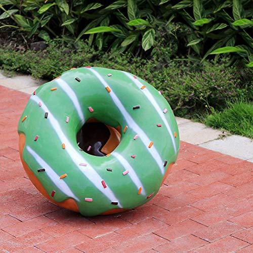Wghz Große Donut Dekoration, Cartoon Macaron Kunst Ornamente Die Fortschrittspartei Kreative Moderne Statue Skulptur Wohnkultur Für Markt, Getränkehaus Dekor-c 66x24cm