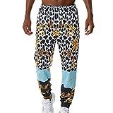 Pantalones de Leopardo para Hombres y Mujeres, Pantalones de fantasía Coloridos para Hombres, Mujeres, Elasticidad, Transpirable, sin decoloración, sin Encogimiento, cordón con cordón