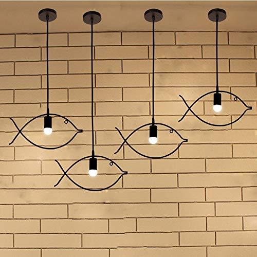 En forma de pez Candelabros, lámpara de techo de creatividad de hierr
