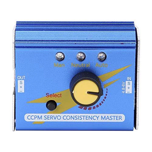 Power Servo Tester, 3CH Servo Tester ESC Multi Servo Tester CCPM Servo Consistency Master Checker for RC Planes & Helicopters Cars, Servo/ESC Tester