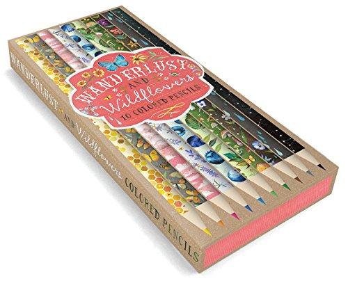 Wanderlust and Wildflowers: 10 Colored Pencils: (Colored Pencils for Sketching, Colored Pencils for Daisy-Lovers)