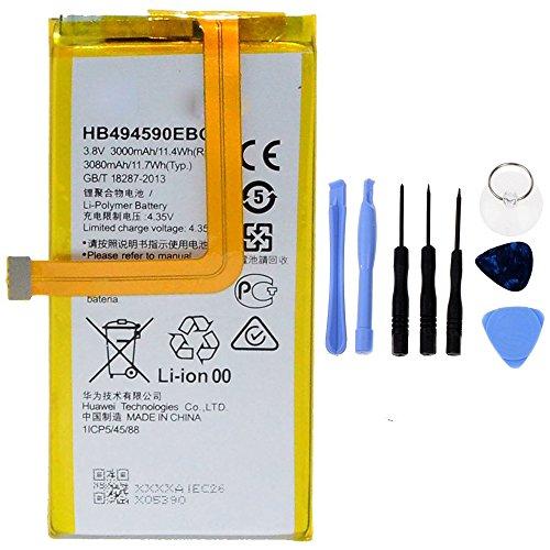 Generico Batería de alta capacidad 3000 mAh compatible con Huawei Honor 7 HB494590EBC con kit de herramientas incluido