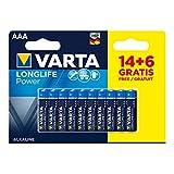 Varta 38569 Pila Varta High Energy AAA 1.5V Lr03, 20 uds, multicolor