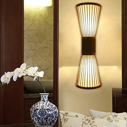 Apliques Pared Interior Dormitorio Pasillo Lámparas De Pared Para Mesita De Noche Iluminación De Pared Salon Lámpara China Retro Bambú Arte