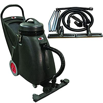 """Viper Cleaning Equipment SN18WD Shovelnose 18 gal Wet/Dry Vacuum, 24"""" Cleaning Path, 2 10"""" Non-Marking Wheels, 50' Power Cable, 2 Stage Vacuum Motor, 9' Vacuum Hose"""