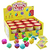 Make Your Own Bouncy Ball Kit - 12 Individual Kits - Science Party Favors - Cool Birthday Parties Activities for Kids - Create 12 Balls - Fun DIY Arts and Crafts for Kids Bulk - STEM Craft Projects