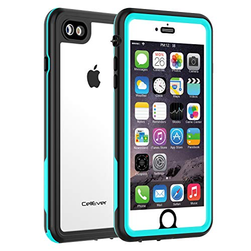 CellEver Compatible with iPhone 7/8 Waterproof Case Shockproof IP68 Certified SandProof Snowproof Full Body Protective Clear Transparent Cover Designed for iPhone 7 / iPhone 8 (4.7 Inch) KZ Ocean Blue