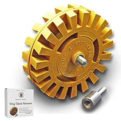 Whizzy Wheel Car Decal and Sticker Remover with Drill Adapter Kit