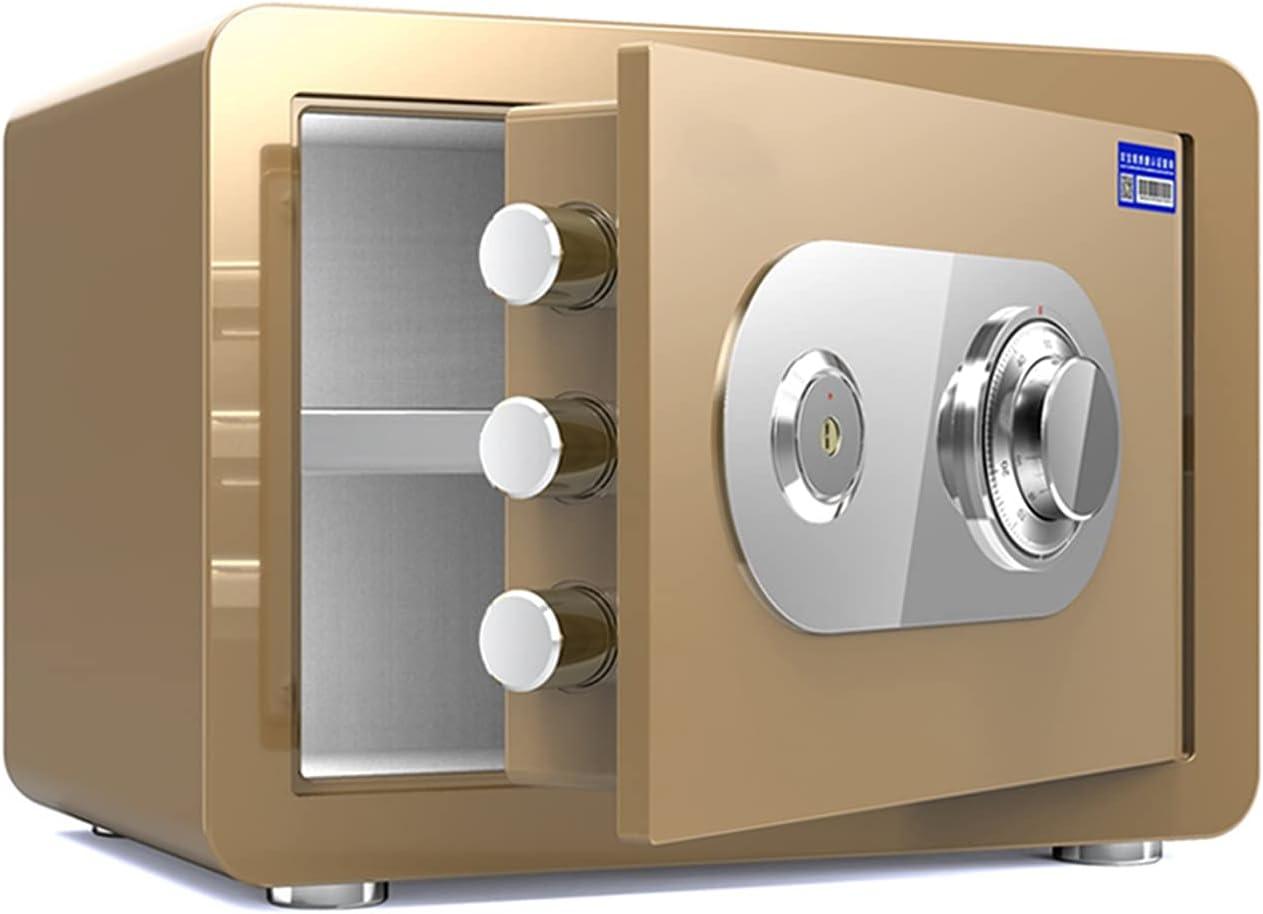 Safes Golden Fireproof Safe Ultra-Cheap Deals Household Super intense SALE Anti-Theft Steel Small Sa