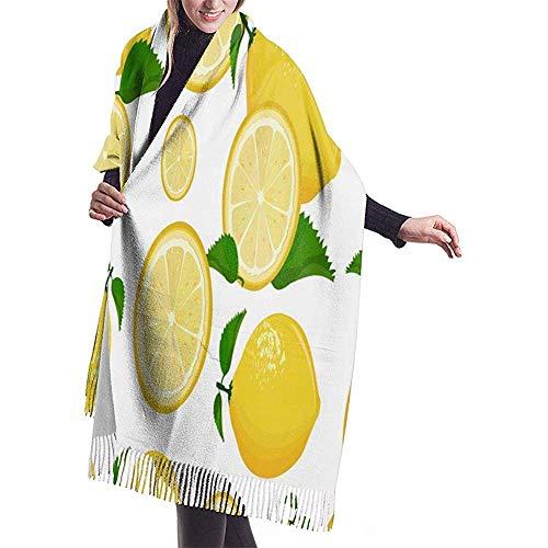 Saft Limonade Grapefruit Limonengelb Zitrone Warm Weiche Kaschmirschal Wickelschals Lange Schals Büroangestellter Reisen