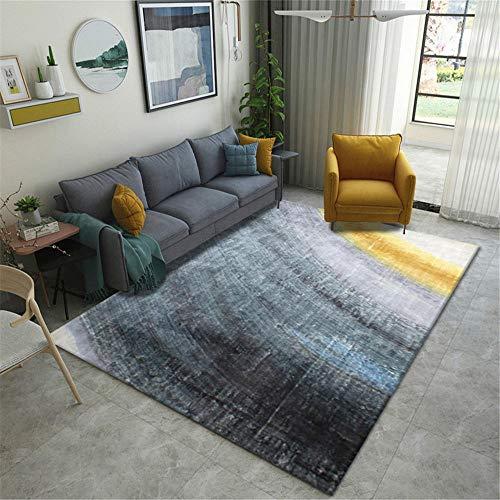 Alfombras alfonbras de dormitorios Alfombra Duradera con diseño de Tinta Amarilla Gris Negra Suave Mesa recibidor Alfombra recibidor 180X280CM