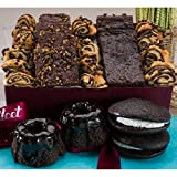 Dulcet Gift Baskets Chocolate Lovers Brownie Ganache Bakery Collection Featuring Fudge Brownies...