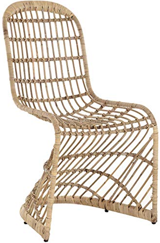 Retro Schwingstuhl Design Esszimmer-Stuhl aus Rattan