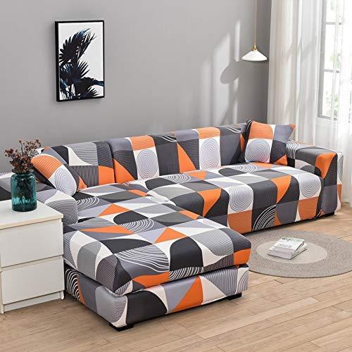 Fundas de sofá elásticas en Forma de L para Sala de Estar Necesita Comprar 2 Piezas de Funda de sofá para Muebles seccionales Funda de sofá elástica A17 2 plazas