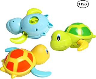 Dmeixs Baby Bath Toy Wind Up Bath Toys Turtle Bathtub Toys for Toddlers Floating Toys Eco-Friendly Material 3 Pack