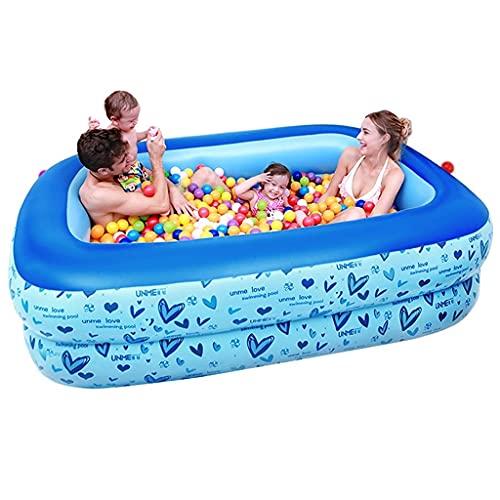 Piscina Inflable para niños Piscina para niños Inflable para el hogar Piscina para niños súper Grande Piscina Inflable para Piscina (Color : Blue, Size : 295 * 170 * 50cm)
