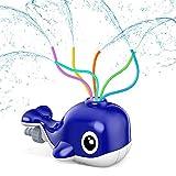Kiztoys Wassersprinkler für Kinder, Sprinkler Spielzeug mit 6 Schlauch, Wasser Sprinkler Kinder Gartensprinkler in Wal Fun Toy für Kinder im Freien Spielen