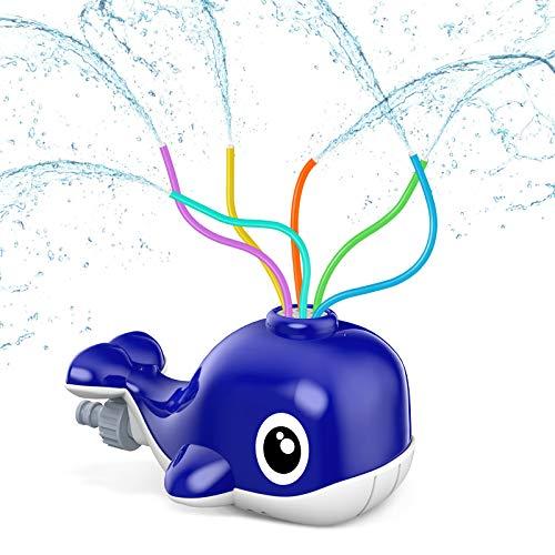 Kiztoys Giocattoli Irrigatori Estivi Balena Doccia per Bambini, Giochi d'Acqua All'Aperto Famiglie, Giocattolo Cani, Rimozione della Polvere e Irrigazione