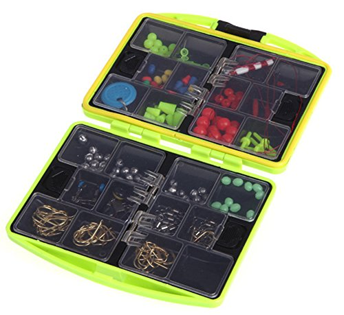 SaySure - Water-resistant 24 Compartments Fishing Tackle Box Full Loaded Hook - GMN-BG-SPT-000500