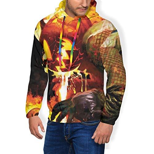 Sweat-shirts à capuche avec motif crâne de citrouille - Imprimé 3D - Pour homme - Noir - X-Large