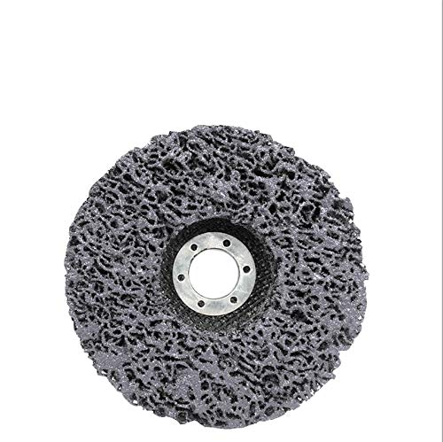 CROSYO 1pc 125mm Poly-Streifen Disc Schleifscheiben Farbe Rostlöser reinigen Schleifscheiben for Durable Winkelschleifer Auto-LKW Motorräder (Farbe : Schwarz, Größe : 125x22mm)