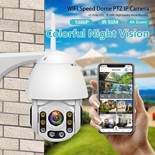 Review 1080P WiFi IP Camera Motion Detect Auto-Tracking PTZ 4X Zoom 2-Way Audio P2P CCTV Security Ou...