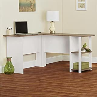 Ameriwood Home Dakota L-shaped Desk with Bookshelves