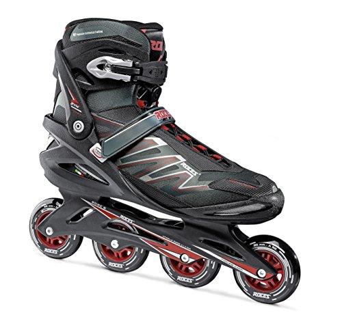 Roces Herren Inline-skates Big Zyx, schwarz (black/Crimson red), 50, 400812