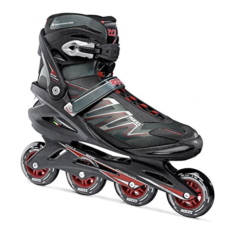 Roces Herren Inline-skates Big Zyx, schwarz (black/Crimson red), 50, 400812