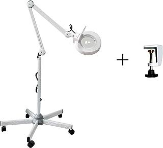 Lampara Lupa LED Estetica, 5 x lámpara lupa LED en pie 5 ruedas/en mesa