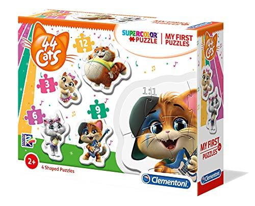 Clementoni 44 Cats My First Puzzle-44 Gatti-3-6-9-12 pezzi, Multicolore, 20812