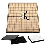 Explopur Go Set - Go Game Set Voyage Go Game Board Jeu d'échecs magnétique avec Plateau de Rangement pour Adultes et Enfants
