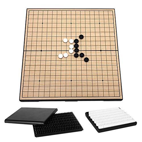 Explopur Go Set - Go Game Set Travel Go Juego de Mesa Juego de Tablero de ajedrez magntico con Placas de Almacenamiento para Adultos y nios