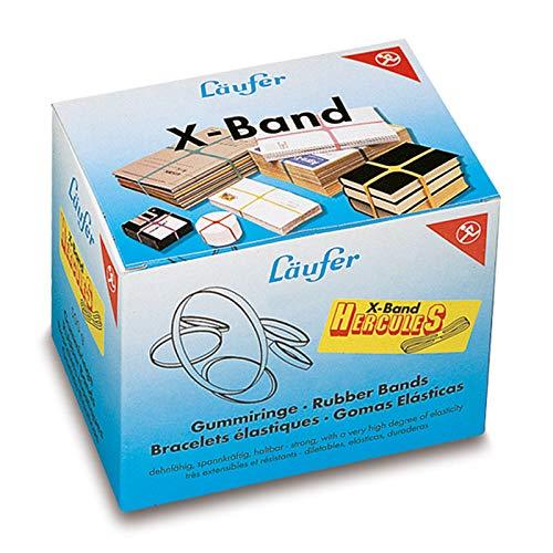 Läufer 59078 Rondella X-Band Hercules, extragroße Kreuzbänder, Gummibänder 250 x 25 mm groß, Durchmesser 160 mm, 500g Schachtel, bunt sortiert