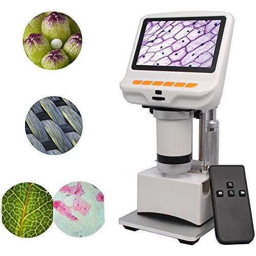 Escritorio Portátil Microscopio Digital LCD Con Microscopio Digital USB Pantalla Incorporada de 4.3 Pulgadas Tejidos de Diapositivas Regalo de Observación Para Células Botánicas Para Niños