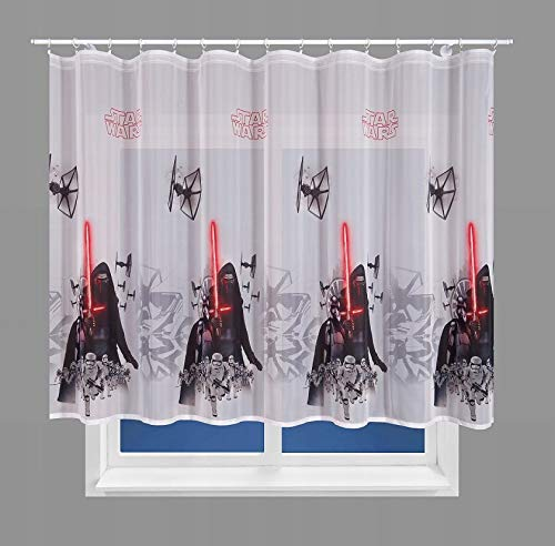 Polontex Disney - Cortina para habitación infantil (150 x 136 cm), diseño de Darth Vader