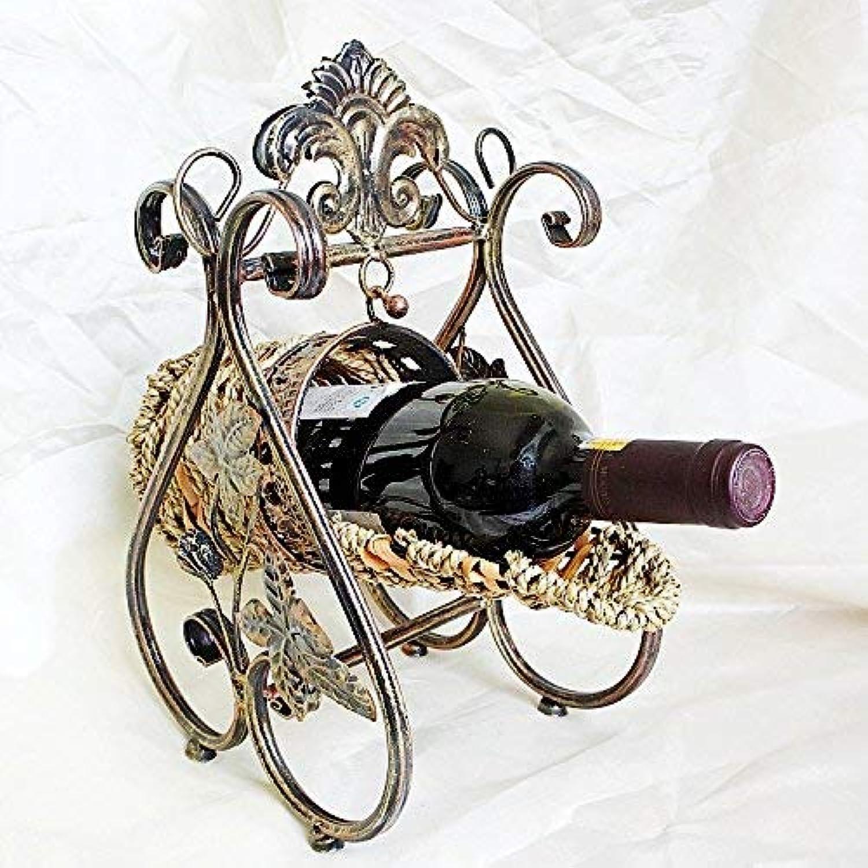 Continental Iron Wine Rack Wine Rack Style Swing Round Basket -Type Wine Rack Wine Rack (color   -, Size   -)