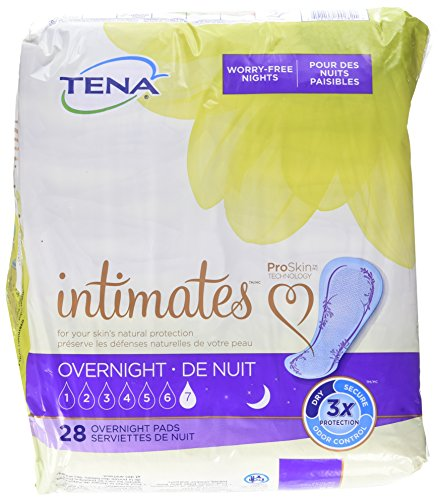 TENA Intimates Overnight Pads, 28 pads
