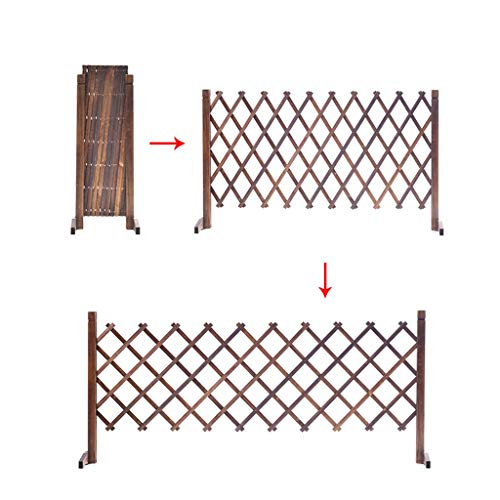 BBGS Retractable Gate Expanding Fence, Fold-able and Lightweight Pet Safety Wooden Garden Fencing for Patio Garden Lawn Decoration (Size : 126cm height)